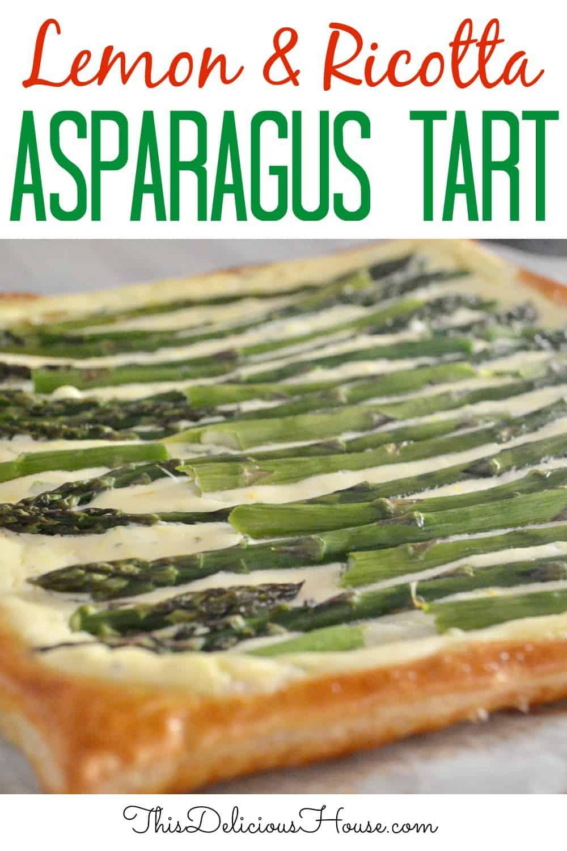 Asparagus Tart pinterst pin.