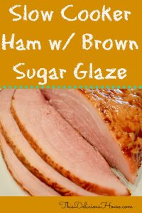 Slow Cooker Ham with Brown Sugar Glaze is so easy to make in your Crockpot! This easy healthy recipe is great for the holidays, easter, or just during the week. So simple, makes great leftovers, and can be done with boneless or spiral sliced ham. #crockpot #slowcooker #ham #easyrecipe #easter #weeknightdinner #healthyrecipe #simple #leftovers
