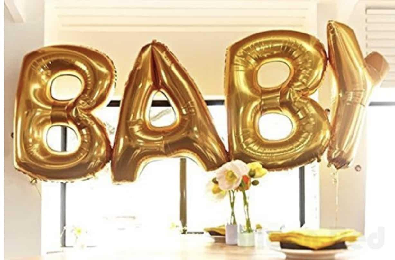BABY mylar balloon