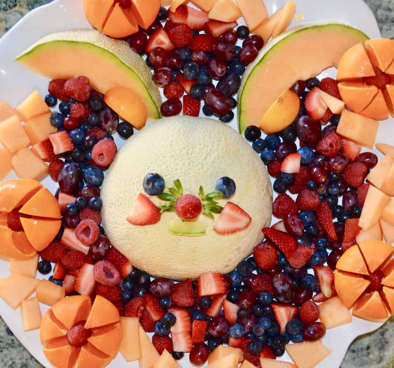 Funny Bunny Fruit Platter | Kid Friendly