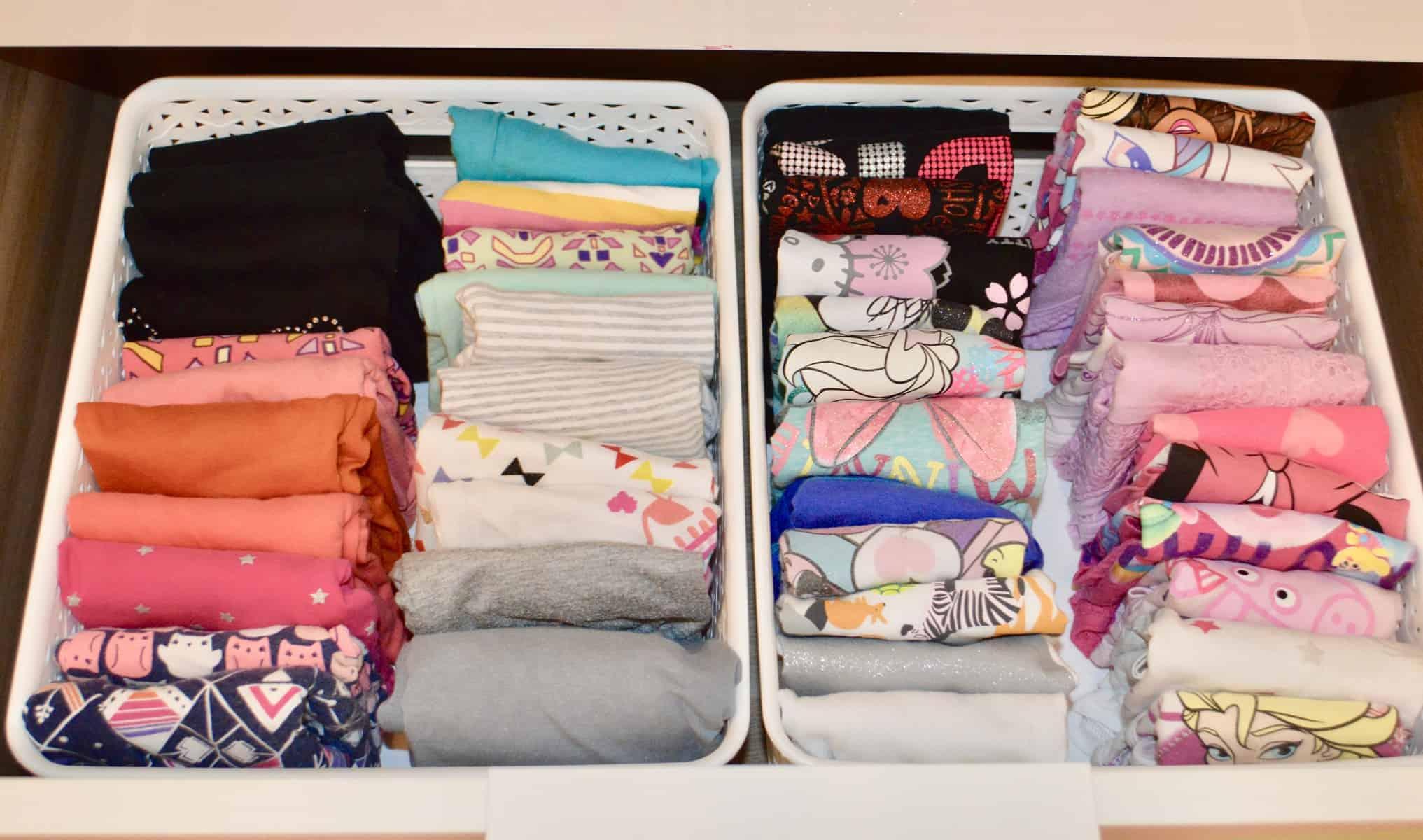 Organize Kids Clothes – KonMari Method