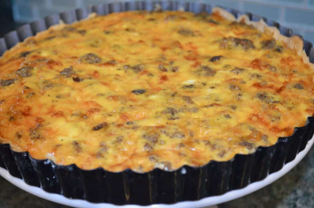 Breakfast Tart with Sausage and Cheddar