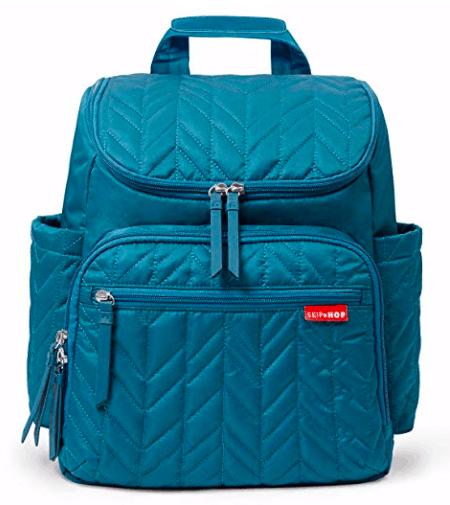 Hop Skip Diaper bag backpack in blue