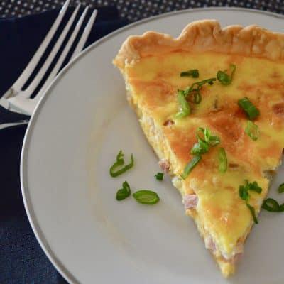 Ham and Cheese Quiche | Leftover Ham Recipe