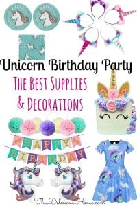 Unicorn Birthday Party Decoration And Ideas Unicornbirthday Kidsparty