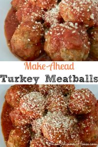 Make-Ahead Turkey Italian Meatballs are the classic meatball recipe only healthy. Easy and delicious, these are great served over pasta, on slider buns, or by themselves as appetizers. #meatballs #groundturkey #classic #italian #recipe #easy #weeknightdinner #parenting
