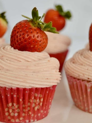 Strawberry Cupcakes from Scratch.
