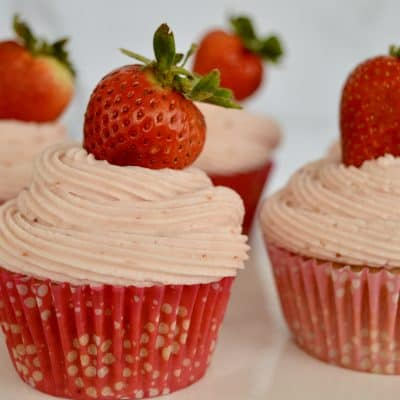 Strawberry Cupcakes from Scratch