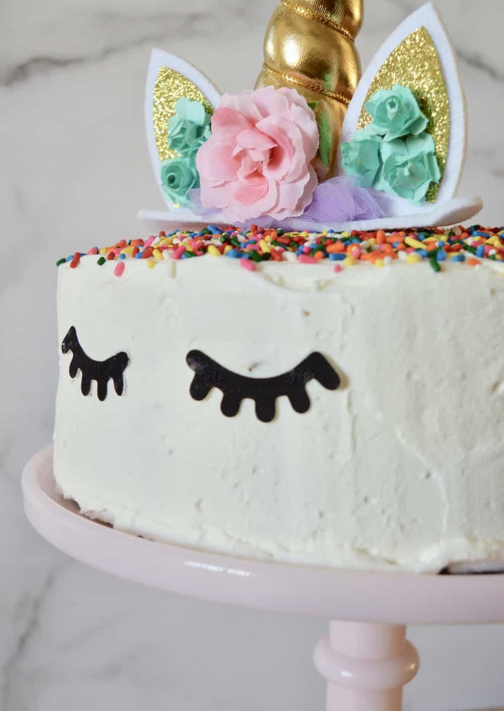 unicorn ice cream cake.