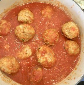 make-ahead turkey meatballs