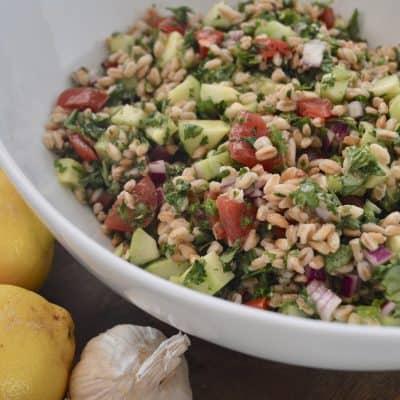 Farro Tabbouleh Salad | Farro Tabouli