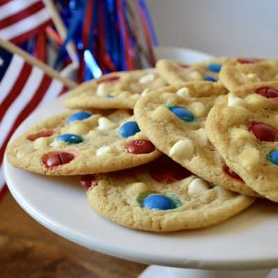 4th of July Cookies with M&M's