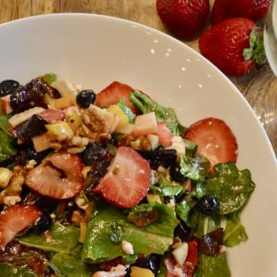Berry Salad with Candied Walnuts