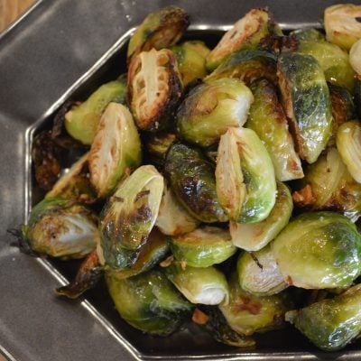 Roasted Brussels Sprouts with Garlic