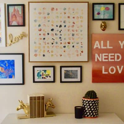 Gallery Wall Using Kids Artwork – Easy DIY!