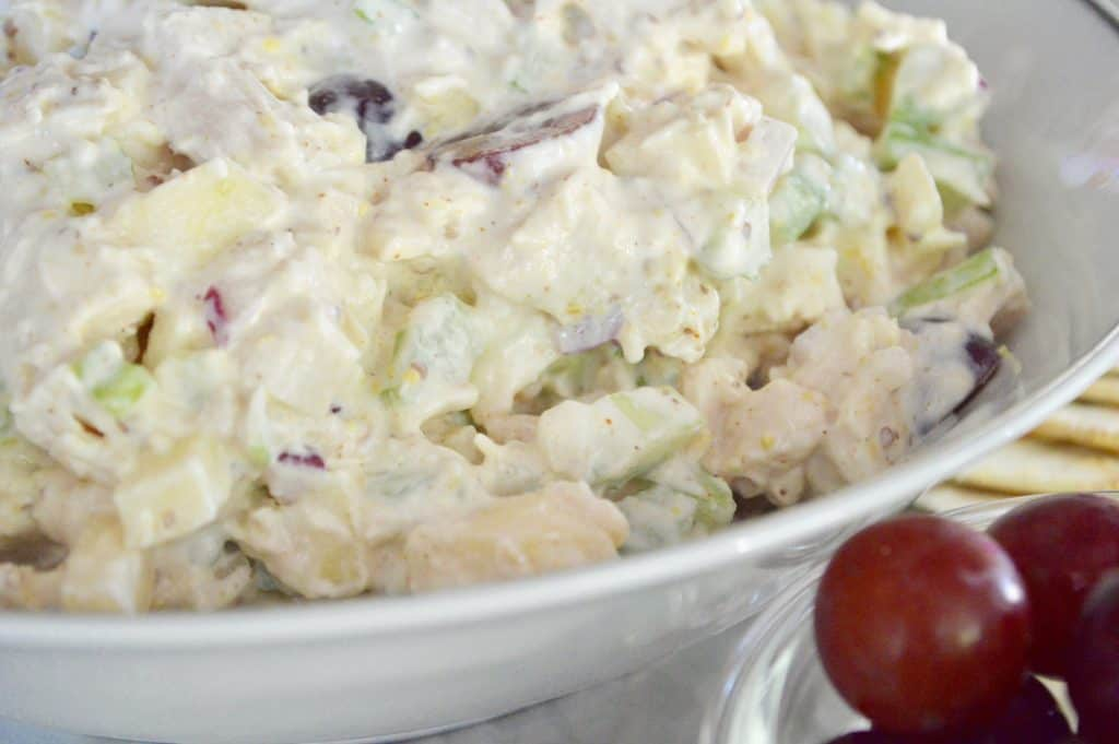 Rotisserie Chicken Salad with Grapes and apples