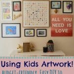 Gallery Wall Using Kids Artwork