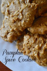 Pumpkin Spice cookies with oats and cinnamon