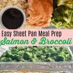Meal Prep Salmon and Broccoli with teriyaki sauce for lunch