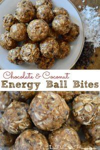 Chocolate and Coconut Energy Ball Bites