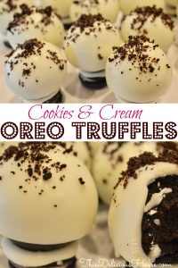 cookies and cream oreo pops with white chocolate coating