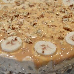 Banoffee Butter Pecan Ice Cream Cake Pie
