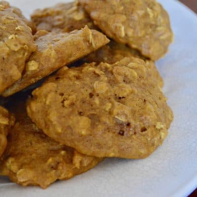 Pumpkin Spice Cookies with Oatmeal