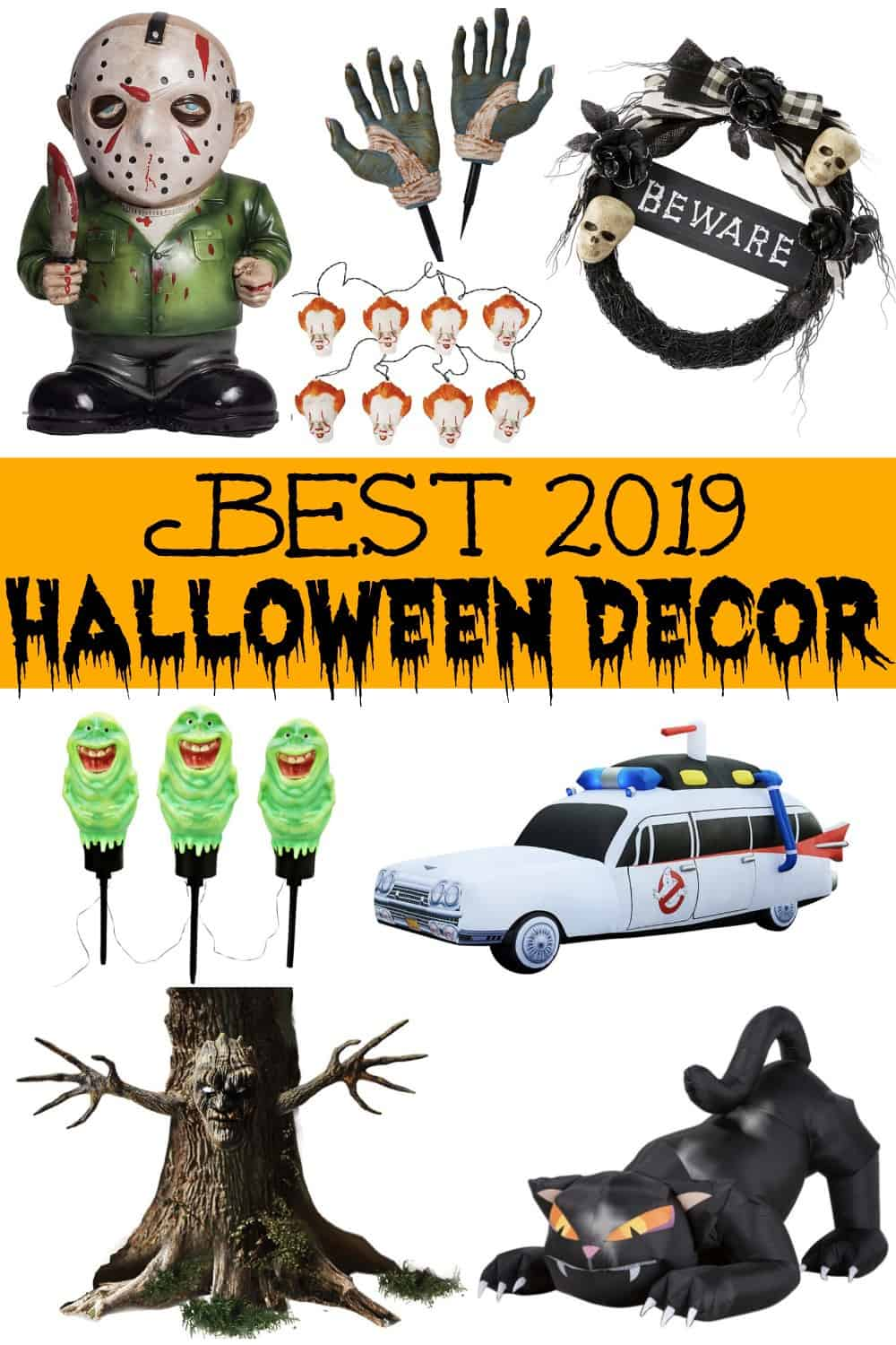 Best outdoor halloween decorations pinterest pin.