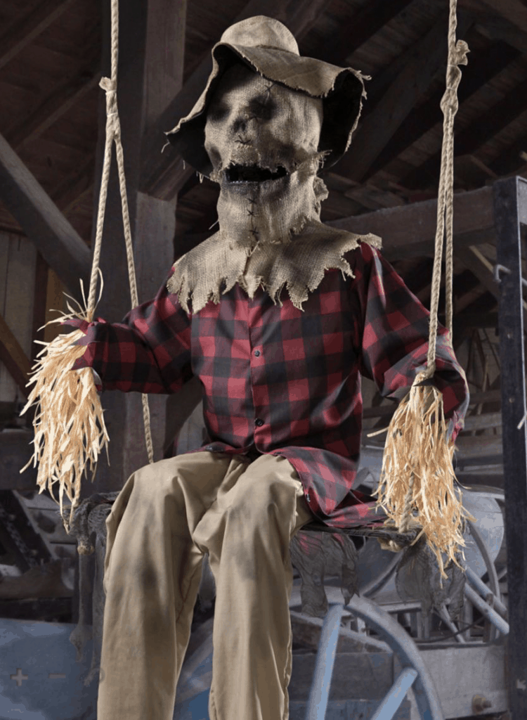6 ft swinging scarecrow animatronic