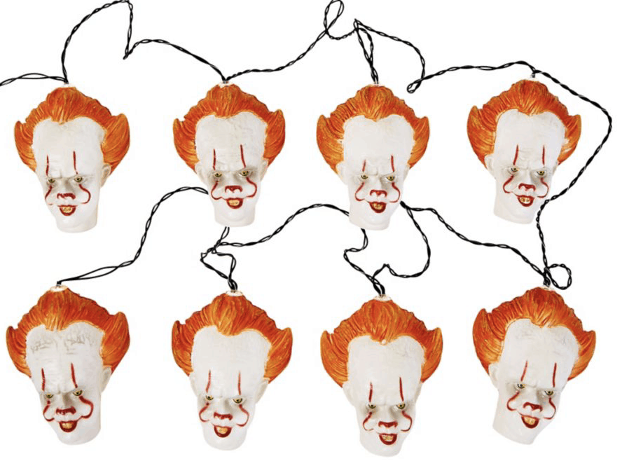 hanging pennywise string lights