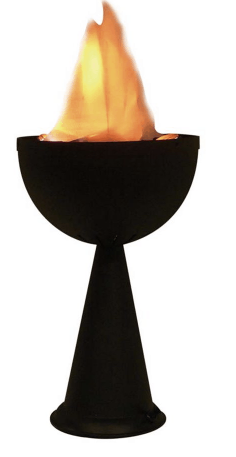 table top flame light in black is a best outdoor halloween decoration.