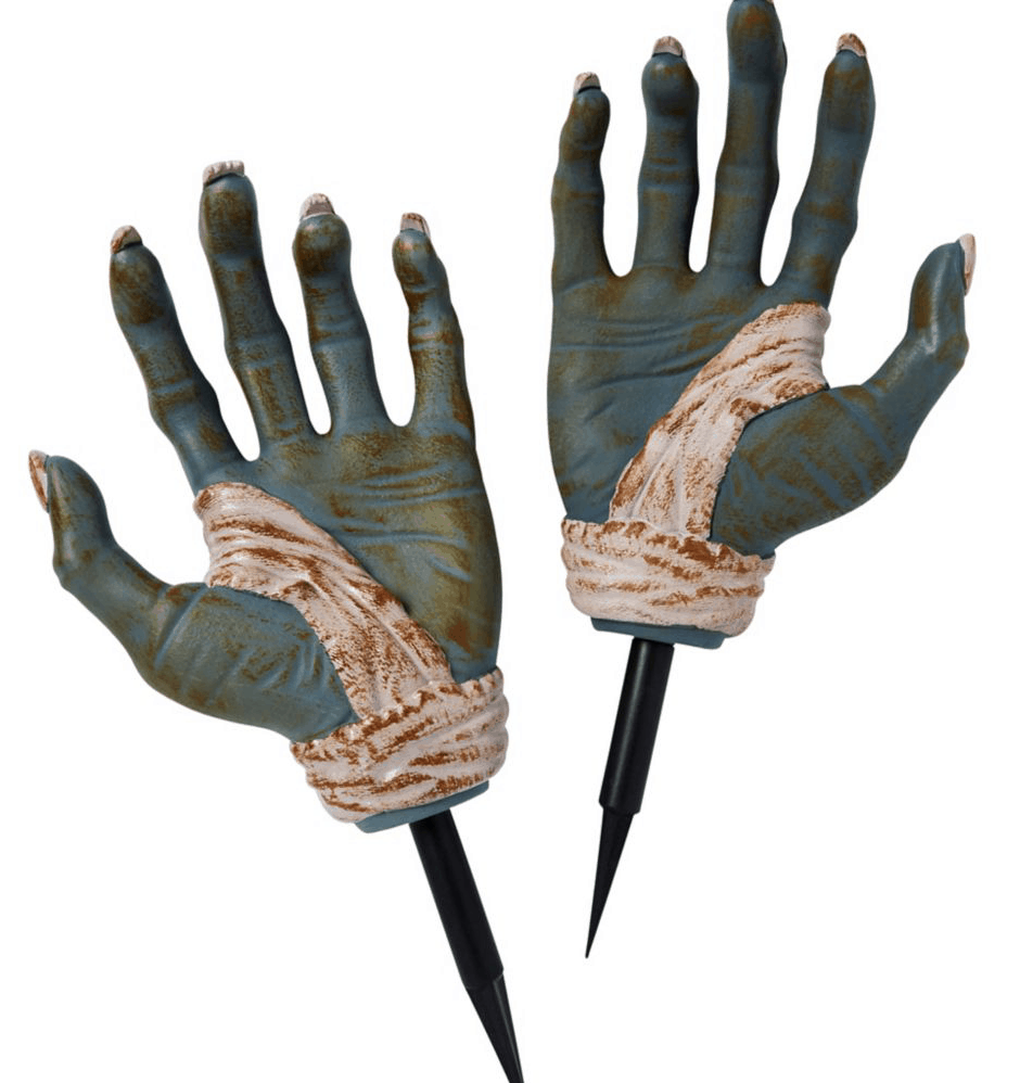 large zombie hands.