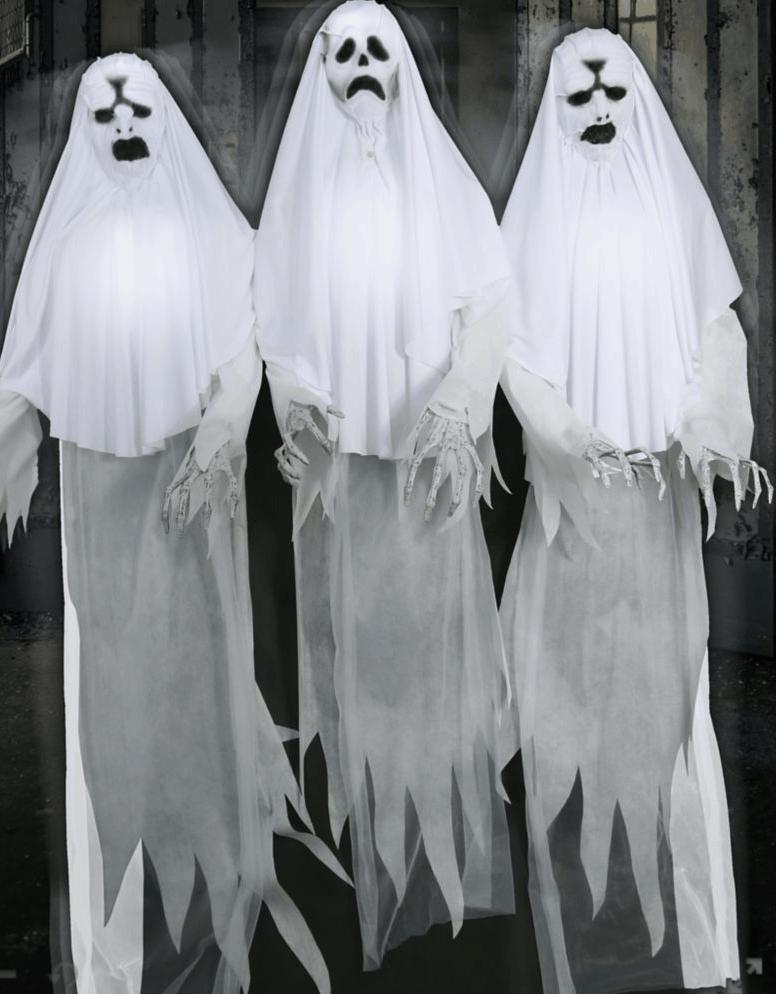 Spooky Ghost Trio Anamatronics.
