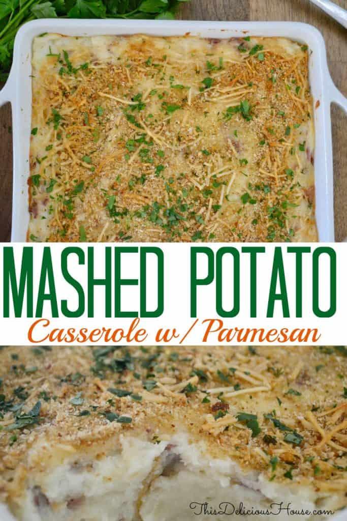 mashed potato casserole pinterest pin.