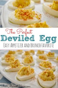 Easy Deviled Eggs are the best classic recipe that is easy and healthy. This budget-friendly appetizer is delicious and so easy. #deviledeggs #eggs #appetizer #brunch #breakfast #babyshower #bridalshower #budget #holidays #easter #christmas #best #classic #easyrecipe