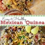 Mexican Quinoa Salad with black beans and corn