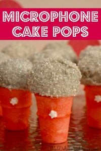 microphone cake pops tutorial