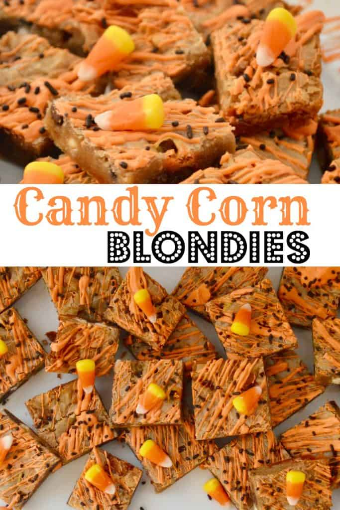 candy corn blondies pinterest pin.
