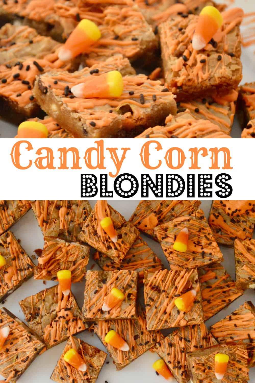 candy corn blondies pinterest pin.
