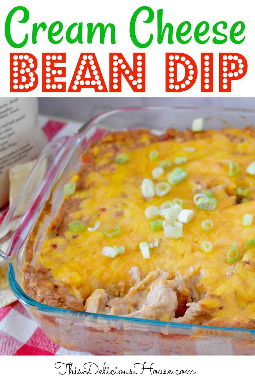 Cream Cheese Bean Dip Pinterest Pin.