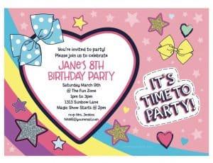 JoJo Siwa Birthday Party personalized invitations