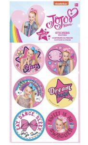 JoJo Siwa Birthday Party sticker set