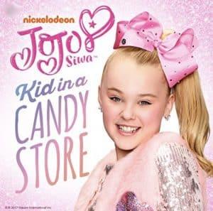 JoJo Siwa kid in a candy store album cover