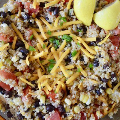 Mexican Quinoa – Healthy Side Dish Burrito Bowl