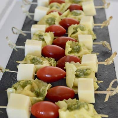 Pesto Tortellini Skewers – Easy, Fast Appetizer