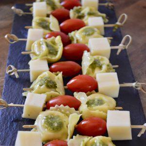 Pesto Tortellini Skewers