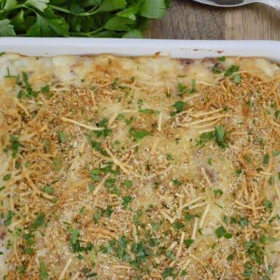 Mashed Potato Casserole | Ricotta & Parmesan
