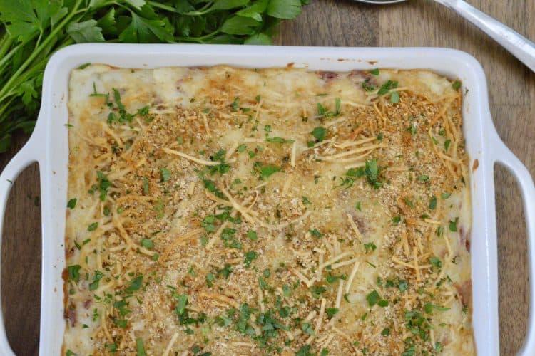 Mashed Potato Casserole with Ricotta and Parmesan