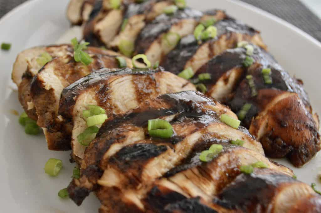 Marinated Chicken with balsamic glaze