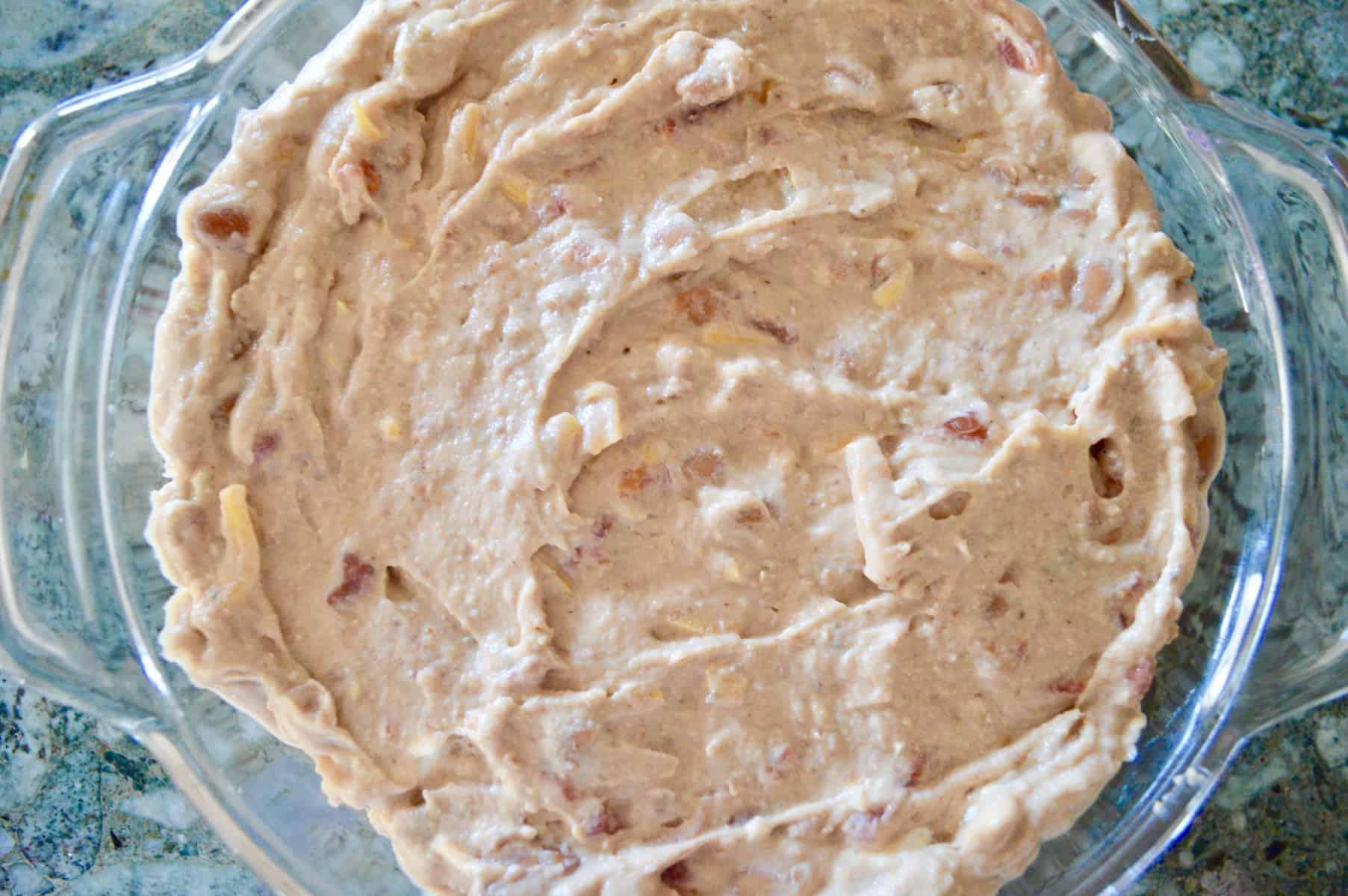 dip in a baking dish